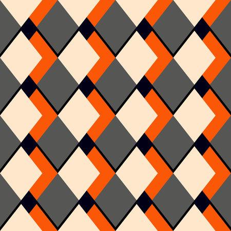 Vector marble seamless pattern with golden geometric diagonal lines. White, gray, black rhombus marbling surface, modern luxurious background, luxury wallpaper.eps 10 Standard-Bild - 127457133