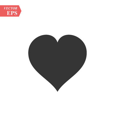 Heart icon in trendy flat style isolated on background. Heart icon page symbol for your web site design Heart icon logo, app, UI. Heart icon Vector illustration, EPS 10