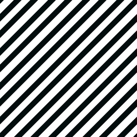 Simple seamless striped pattern, straight diagonal lines, black and white texture, vector background eps 10 Standard-Bild - 127382176