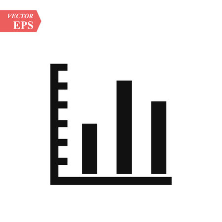Graph Icon in trendy flat style isolated on grey background. Chart symbol for your web site design, logo, app, UI. Vector illustration, EPS10. Standard-Bild - 127382179