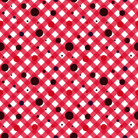 Red and white diagonal lines with dots vector background. Red background. eps 10 Standard-Bild - 127268361