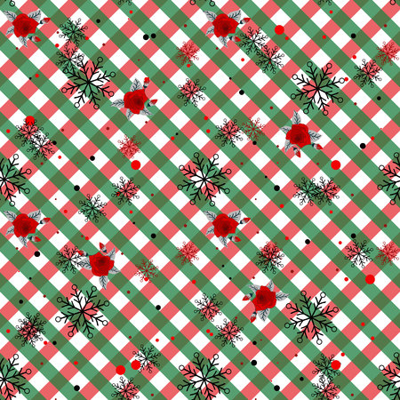 Christmas and New Year Scottish Woven Tartan Plaid Seamless Pattern eps10
