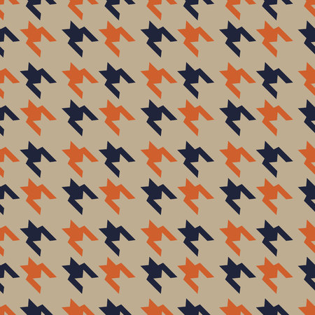 Houndstooth seamless pattern for clothes design.Trendy fabric abstract print with houndstooth black set on colorful backdrop Geometric improvisation on a classical motive eps10