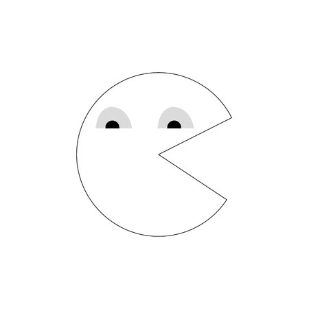 Vector Pacman icon symbol sign on white eps 10 Standard-Bild - 127256584