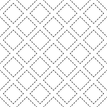 Vector seamless pattern. Modern stylish texture. Repeating geometric tiles with dotted rhombus eps 10 Illustration