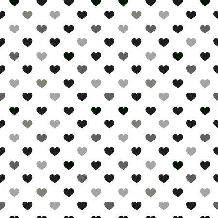 Modèle sans couture d'enfants modernes avec coeur. Éléments de dessin animé scandinave minimaliste mignon noir et blanc sur fond blanc. eps10 Vecteurs