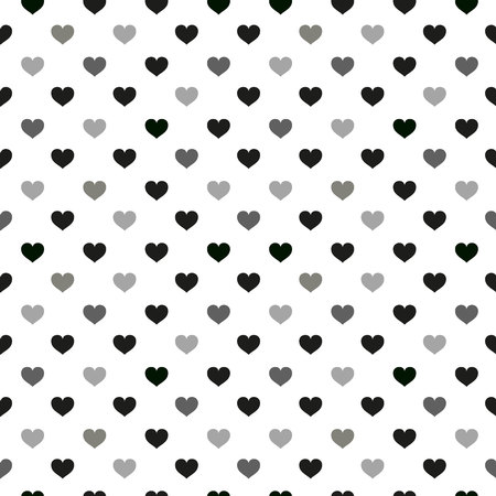 Modern kids seamless pattern with heart. black and white cute minimalistic scandinavian cartoon elements on white background. eps10 Standard-Bild - 127132761
