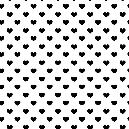 Modern kids seamless pattern with heart. black and white cute minimalistic scandinavian cartoon elements on white background. eps10 Standard-Bild - 127132762