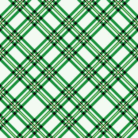 green tartan fabric texture diagonal pattern seamless vector illustration Ilustración de vector