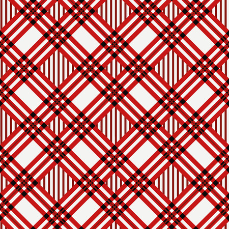 Menzies tartan red kilt diagonal fabric texture seamless pattern.Vector illustration. Illustration