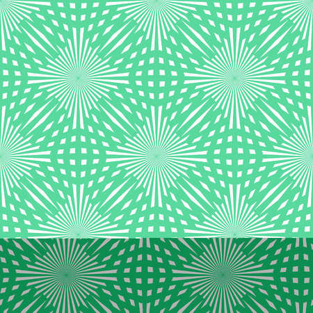 Vector green circle seamless pattern. Modern stylish texture. Repeating abstract background. eps 10 Standard-Bild - 127041457