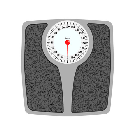 Bathroom weight scale in realistic style. Weight Scale fitness sport concept. Vector illustration EPS10. Standard-Bild - 127015439
