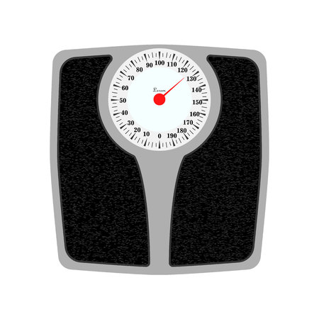 Bathroom weight scale . Isolated on white background. eps10