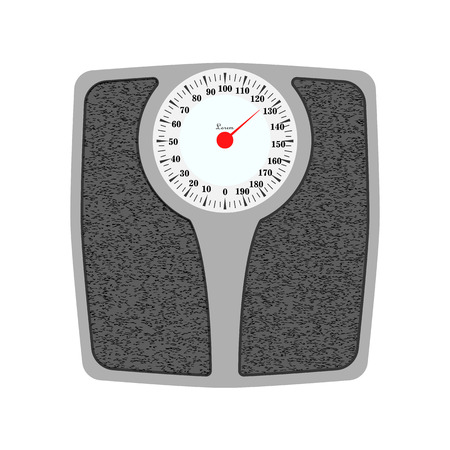 Bathroom weight scale . Isolated on white background. eps 10