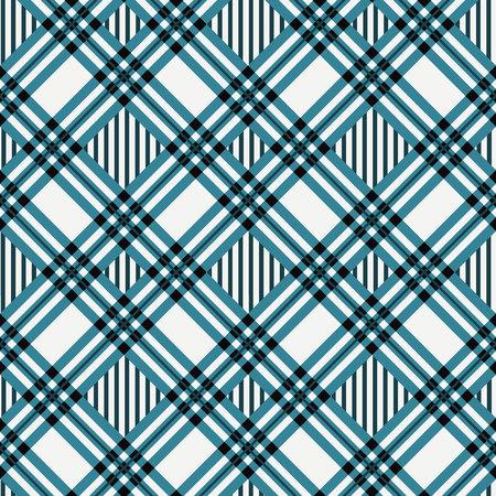 Ilustración de vector transparente de patrón diagonal de textura de tela de tartán azul