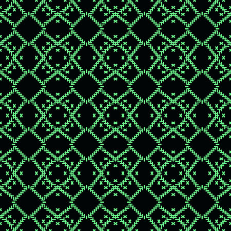Wool turquoise color texture background. Seamless knitted background. Illustration for design, backgrounds, wallpaper. Vector illustration. eps10