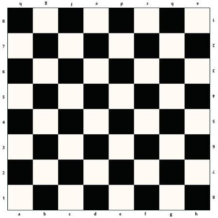 Scacchiera vuota bianca e nera. Illustrazione vettoriale. eps 10