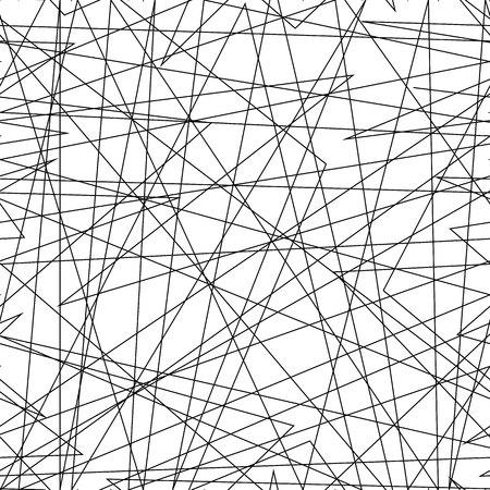 Texture asymétrique avec des lignes chaotiques aléatoires, motif géométrique abstrait. Illustration vectorielle en noir et blanc de l'élément de conception pour la création d'arrière-plans d'art moderne, de motifs. Style urbain grunge. eps10