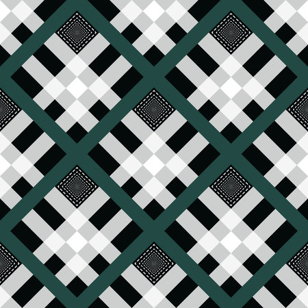 Pride of ireland tartan fabric texture seamless pattern .Vector illustration. EPS10. No transparency. No gradients.