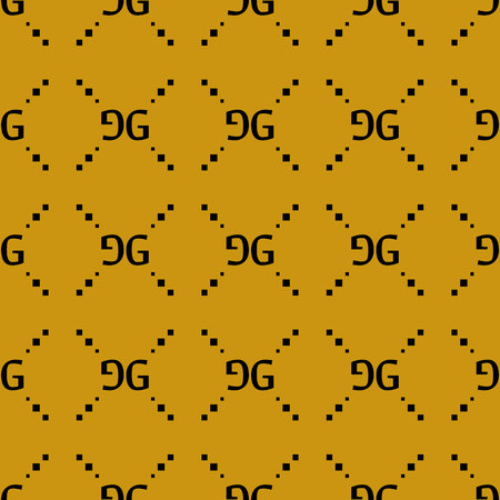 Fashion seamless pattern on yellow background. Can be used for textiles, interior, design. eps10 写真素材 - 121458405