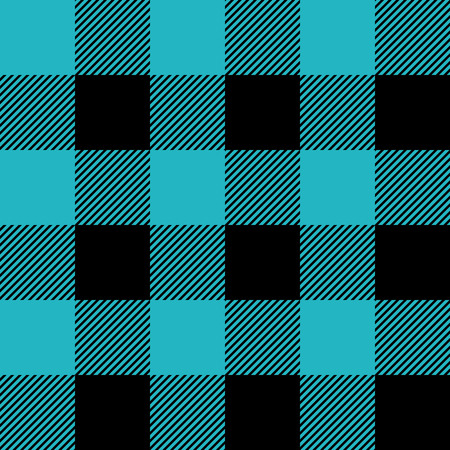 Blue and black tartan plaid. Trendy Scottish cage textile pattern. eps10
