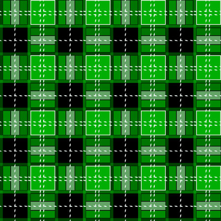 Green Gingham rhombus Buffalo Lumberjack luxury plaid tartan pattern Vector Memphis style vintage Seamless shape fun funny textile Flanel Texture scottish eps10