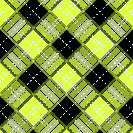 Yellow and Black Scottish Woven Tartan Plaid Seamless Pattern eps10 Illustration
