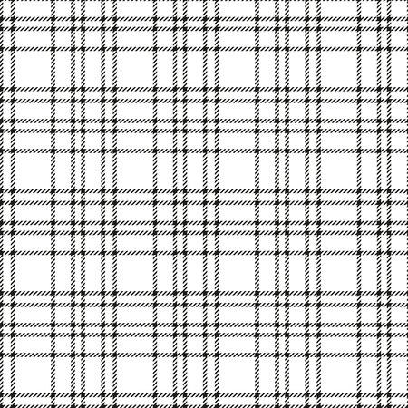 Un minimum monochrome noir blanc sans couture tartan vérifier le motif de pixel à carreaux pour les conceptions de tissu. Impression de fond vichy vichy. Vecteurs
