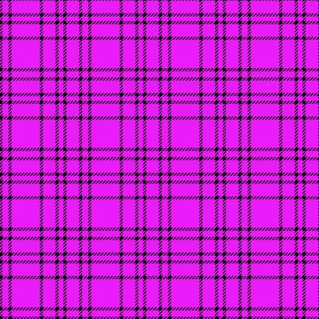 Minimal monochrome black purple seamless tartan check plaid pixel pattern for fabric designs. Gingham vichy pattern background. eps 10