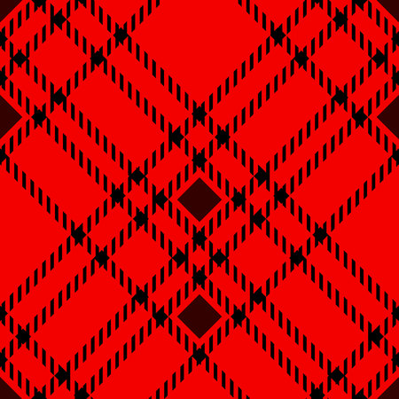 Minimal monochrome black red seamless tartan check plaid pixel pattern for fabric designs. Gingham vichy pattern background. eps 10 Illustration