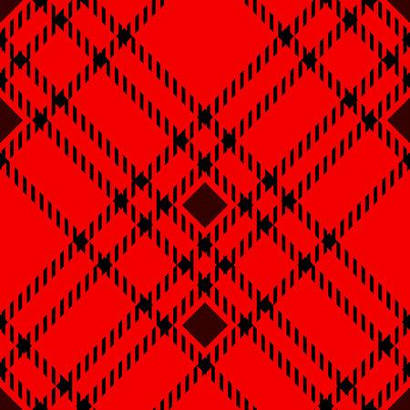 Minimal monochrome black red seamless tartan check plaid pixel pattern for fabric designs. Gingham vichy pattern background. eps 10 Illustration