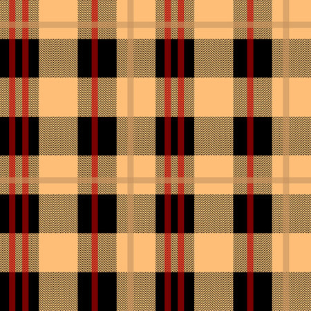 Brown And Beige Tartan Plaid Cloth Texture Pattern Illustration
