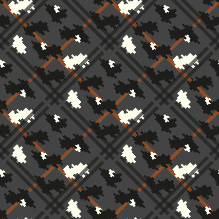 Seamless black and white pattern with protruding teeth. Vector houndstooth. EPS 10 向量圖像