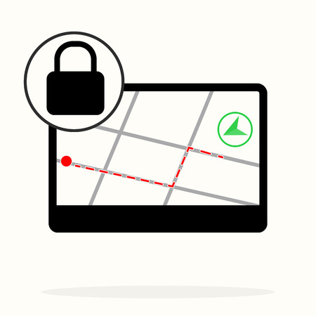 Location, locked, vector icon. gps navigation lock. Can be used for web and mobile. Navigation and map vector icon eps10 Banque d'images - 123250183