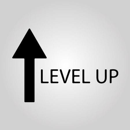 Growth concept, higher level, upgrade plan, financial increase, mono line vector icon EPS 10