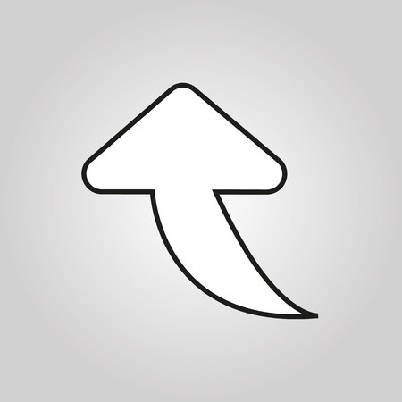 The arrow line icon. Direction and arrow, navigation symbol. Flat Vector illustration eps 10