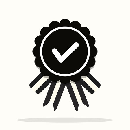Approved or certified medal icon in a flat design. Rosette icon. Award vector eps 10