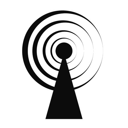 access point, wifi signal, antenna isometric flat icon. vector illustration. Pictogram isolated on white background