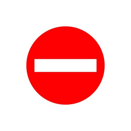 No entry sign. Vector illustration, flat design on white background. eps10