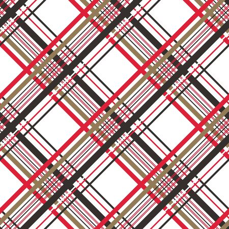 Checkered gingham fabric seamless pattern in black, white and blue, vector. EPS10 Ilustracja
