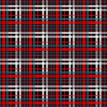 Black and red tartan plaid Scottish seamless pattern.Texture from tartan, plaid, tablecloths, clothes, shirts, dresses, paper, bedding, blankets and other textile products.EPS 10 Ilustracja