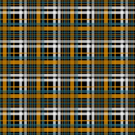 Black and orange tartan blue backround EPS 10