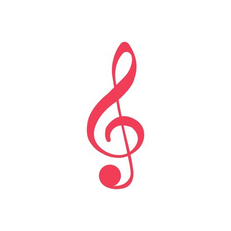 Treble Clef glyph icon, music and instrument, note sign vector graphics, a solid pattern on a white background,