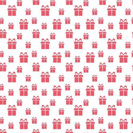 Present seamless pattern. Christmas gift boxes. Hand drawn presents sketch. Ilustracja