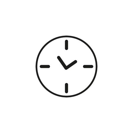 Clock icon in trendy flat style isolated on background. Clock icon page symbol for your web site design Clock icon logo, app, UI. Clock icon Vector illustration.