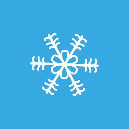 Simple whrite winter snowlake seamless. Christmas vector.