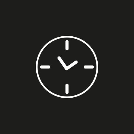 Clock icon in trendy flat style isolated on background. Clock icon page symbol for your web site design Clock icon logo, app, UI. Clock icon Vector illustration, EPS 10.