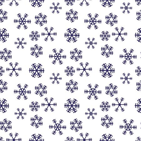 Snowflake christmas and new year seamless pattern vector illustration eps10 Ilustracja