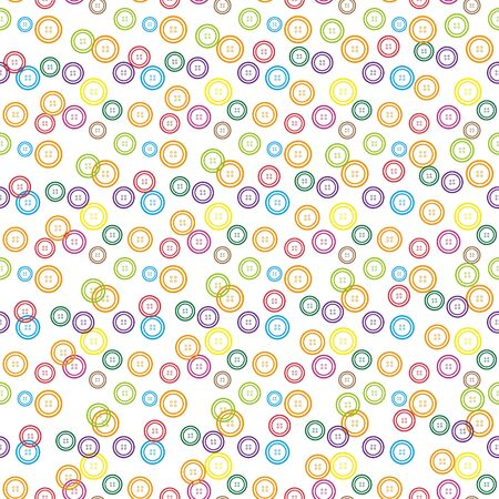 Seamless background with colorful buttons. EPS 10 vector illustration.