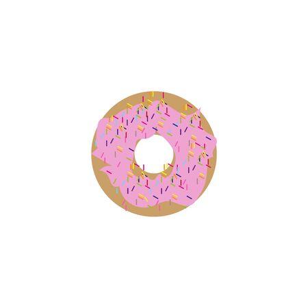 Cupcake flat icon isolate on white background vector illustration